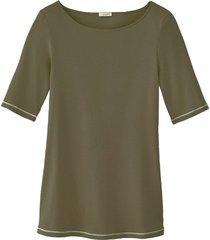 shirt met korte mouw, olijfgroen 42
