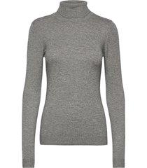 objthess l/s rollneck knit pullover noos turtleneck polotröja grå object