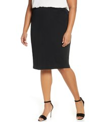 plus size women's ming wang knit pencil skirt