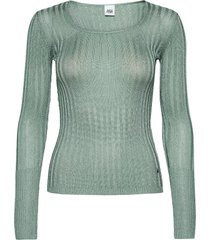 beatrix lurex top t-shirts & tops knitted t-shirts/tops groen twist & tango