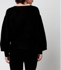 kitri women's beth knitted cardigan - black - m