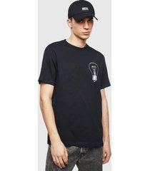 polera t just t22 t shirt 900 negro diesel
