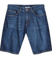 bermuda jean azul oscuro