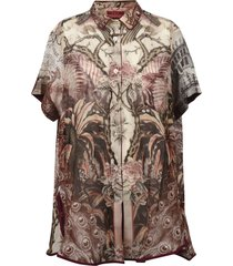 for restless sleepers short-sleeve tropical print shirt