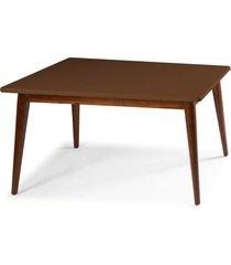 mesa de madeira 140x90 cm novita 609 cacau/marrom escuro - maxima