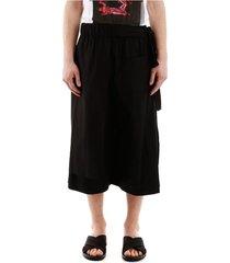 layered bermuda pants
