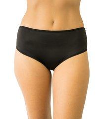 calcinha fio duplo cintura alta qtal lingerie básico preto