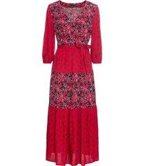 abito patchwork a balze (rosso) - bodyflirt
