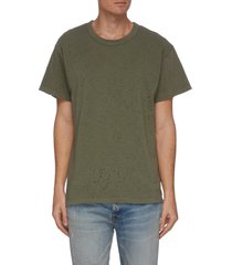 'shotgun' perforated t-shirt
