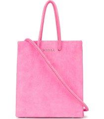medea short textured tote bag - pink