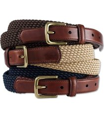 braided stretch cord belt, brown, 38