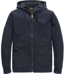 pme legend psw208426 5288 hooded jacket structure sweat blue