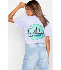 cali slogan back print t-shirt, grey