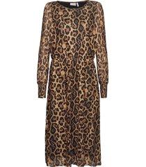 frneyear 1 dress knälång klänning svart fransa