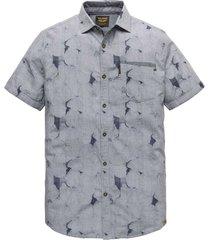 short sleeve shirt jacquard fabri dark sapphire