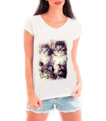 camiseta bata criativa urbana pet lovers feminina