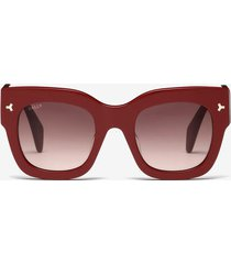 ocean d-frame sunglasses red 1