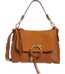 see by chloe small joan leather shoulder bag - brown
