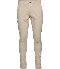 slhskinny-luca pants w chinos byxor beige selected homme