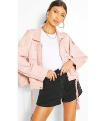 oversized denimjack, roze