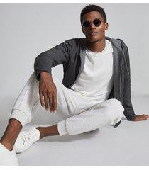 reiss farroe - fine knit tipped t-shirt in white, mens, size xxl
