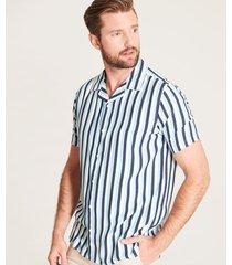 camisa fluida rayas contraste