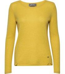 sophia o-neck cashmere gebreide trui geel mos mosh