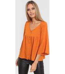 blusa naranja nano 2122