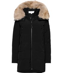 elevated down parka lange jas jas zwart michael kors