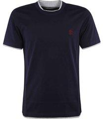 brunello cucinelli chest logo t-shirt