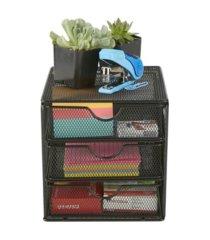mind reader mesh mini 3 tier drawer organizer
