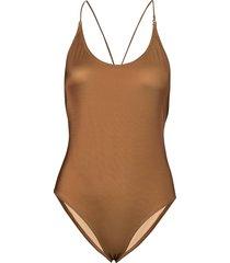 kara body 11032 baddräkt badkläder brun samsøe & samsøe