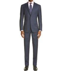 men's big & tall canali siena soft classic fit stripe wool suit
