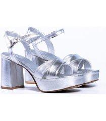 sandalia plata vercal