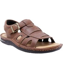 sandalia marron hush puppies hombre hp11001131-f21-390