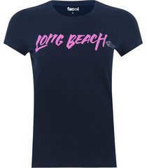 camiseta cuello redondo screen color azul, talla s