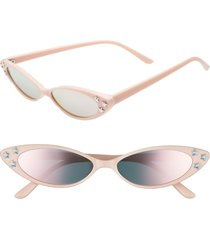 rad + refined mini oval sunglasses in pink/crystal at nordstrom