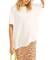 women's free people clarity tee, size small - white