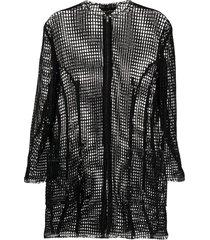 comme des garçons pre-owned netted longline jacket - black