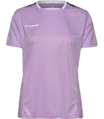 hmlauthentic poly jersey woman s/s t-shirts & tops short-sleeved lila hummel