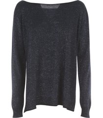 nuur boat neck open sides wool sweater