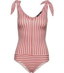 anne body baddräkt badkläder rosa gina tricot