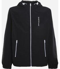 nylon jacket with maxi rear logo print calvin klein
