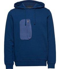 m combined hoodie hoodie trui blauw peak performance