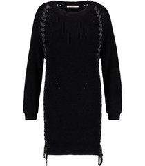 zwarte dames jurk aaiko carlota - 900