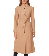 kate spade new york belted stand-collar maxi coat
