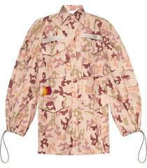 camo-printed jacket