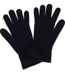 agnona blue cashmere gloves
