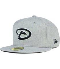 new era arizona diamondbacks heather black white 59fifty fitted cap