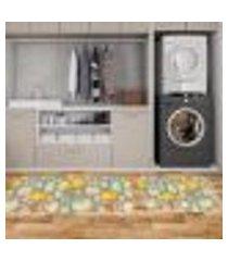 kit tapete lavanderia coelhos happy easter único 40x80